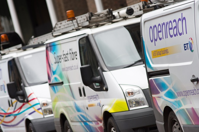 BT Openreach Vans